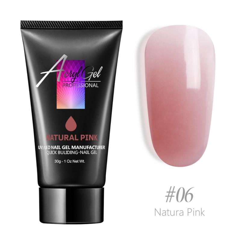 Акригель или Полигель (Polygel) №6 Natural Pink, 30грамм