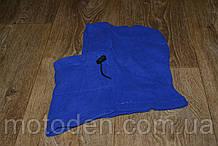 Підшоломник - каптур зимовий синій (фліс), тепла балаклава для мото, вело, спорту, активного відпочинку