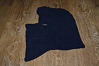 Подшлемник - капюшон зимний тёмно-синий (флис), теплая балаклава для мото, вело, спорта, активного отдыха