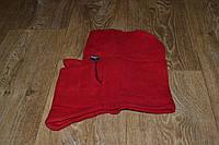 Подшлемник - капюшон зимний красный (флис), теплая балаклава для мото, вело, спорта, активного отдыха
