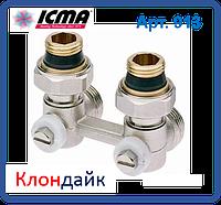 Icma Двухтрубный вентиль для панельного радиатора со встроенной термостатической группой угловой