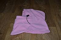 Подшлемник - капюшон зимний розовый (флис), теплая балаклава для мото, вело, спорта, активного отдыха