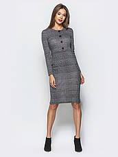 Трикотажна сукня-футляр в англійському стилі клітинка світло-сірий 43212 розмір 44,46,48,50, фото 3