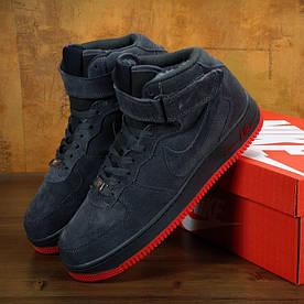 Nike Air Force Grey Red (ЗИМНИЕ) (реплика)