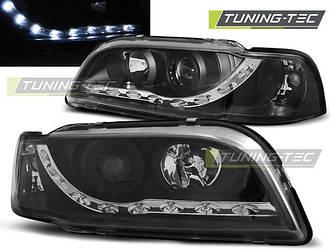 Передние фары Volvo S40 V40 тюнинг оптика черная LED