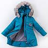 """Зимняя куртка для девочки """"Маша"""" (морская волна), фото 3"""