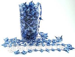 Бусы на ёлку Звездочки, пластиковые 10м х 12мм, цвет: синий)