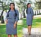 """Женское стильное платье в больших размерах """"Ангора Полоска Кимоно"""" в расцветках, фото 2"""