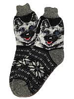 """Шерстяные носки """"Собака черный"""""""