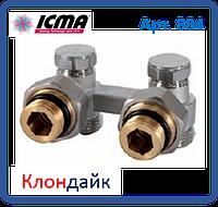 Icma Двухтрубный вентиль для панельного радиатора угловой