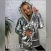 Блестящая зимняя куртка в бронзе и серебре, фото 4