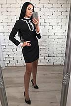 Черное платье с рюшами, фото 3