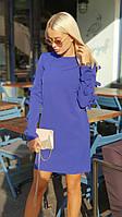 """Короткое платье прямого кроя """"БАНТИКИ"""" с длинным рукавом (3 цвета)"""