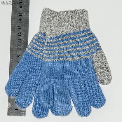 Оптом детские перчатки для мальчиков 2-4 лет - №18-3-7, фото 3