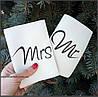 """Обложка на паспорт """"Парочка Mr. & Mrs."""" (комплект 2 шт.)"""