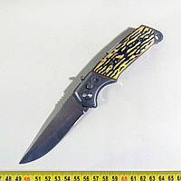 Нож складной Т003 выкидной с фонариком