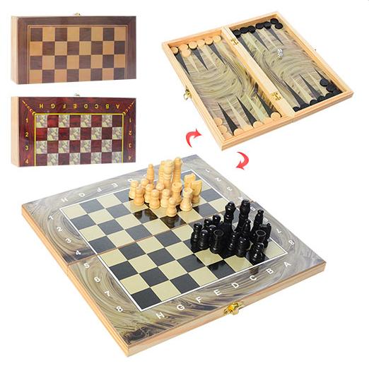 Дерев'яні шахи 3 в 1 (28ACD) (Н)