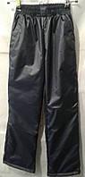 Детские штаны плащевка на флисе оптом 116-140 синии