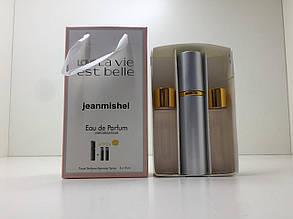 Подарочный набор духов Jeanmishel La Vie Est Belle (Жанмишель Ля Ви Э Бель) 3 пом15 мл