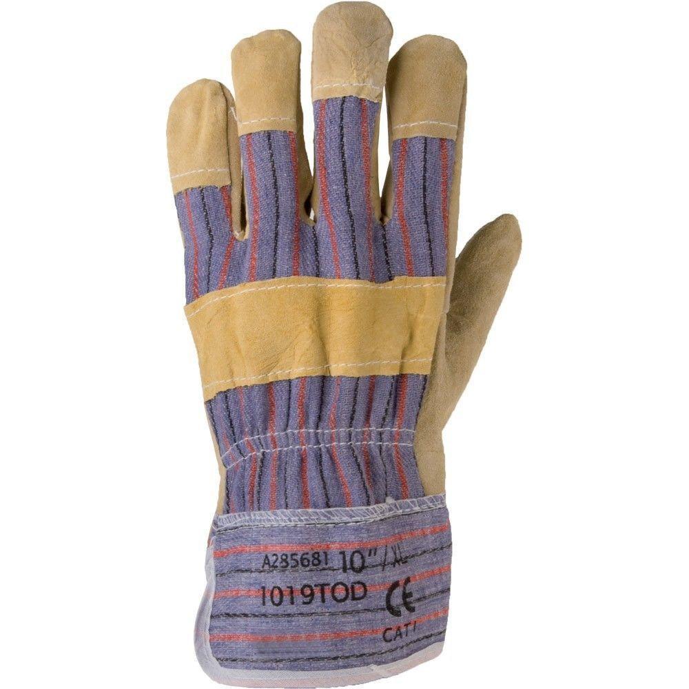 Перчатки рабочие комбинированные х\б + спилок Ardon TOD