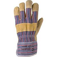 Перчатки рабочие комбинированные х\б + спилок Ardon TOD, фото 1