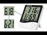Домашній цифровий термометр HTC-1 з функцією гігрометра, годинником та будильником  , фото 6