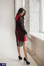 Платье красное с черным кружевом, фото 2