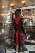 Платье красное с черным кружевом, фото 3
