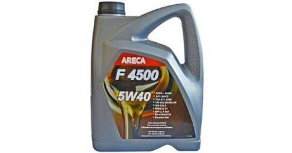 Синтетическое моторное масло Areca  F4500 5W-40 4L