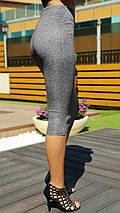 """Офисная женская юбка-карандаш """"LADA"""" с завышенной талией (2 цвета), фото 3"""
