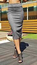"""Офисная женская юбка-карандаш """"LADA"""" с завышенной талией (2 цвета), фото 2"""