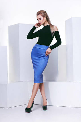 """Офисная женская юбка-карандаш """"LADA"""" с завышенной талией, фото 2"""