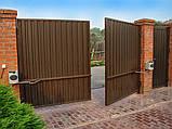 Распашные ворота 3500х2000 заполнение профлистом, фото 5