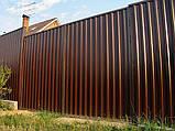 Распашные ворота 3500х2000 заполнение профлистом, фото 6