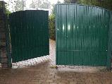 Распашные ворота 3500х2000 заполнение профлистом, фото 7