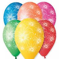 """Воздушные шары """"Салюты-Фейверки"""" 12""""(30см) Пастель В упак:100 шт. Пр-во""""Gemar"""" Италия"""