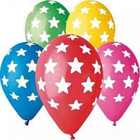 """Воздушные шары """"Звёзды большие"""" 12""""(30см) Пастель В упак:100 шт. Пр-во""""Gemar"""" Италия"""