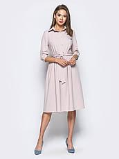 Плаття-міді в стилі ретро з костюмної тканини мята 49026/2 розмір 44,46,48, фото 3