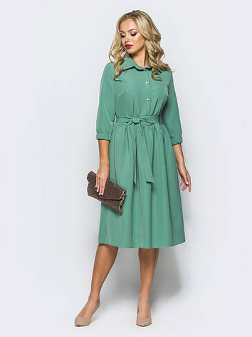 Плаття-міді в стилі ретро з костюмної тканини мята 49026/2 розмір 44,46,48, фото 2