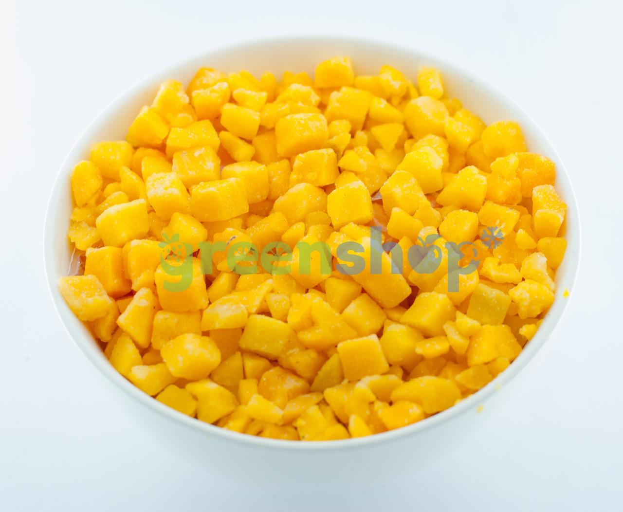 Персик кубик замороженный (0,5 кг)   А-0049