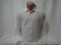 Мужская белая льняная рубашка с длинным рукавом Livergy