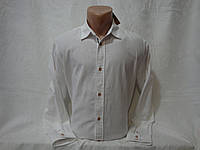 Мужская белая льняная рубашка с длинным рукавом Livergy, фото 1
