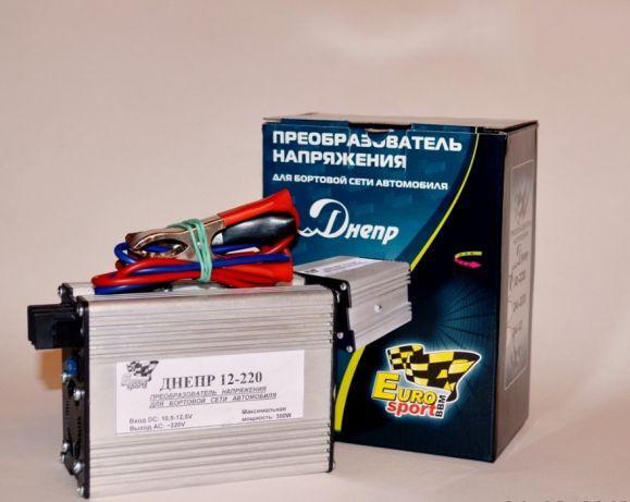 Преобразователь напряжения (Инвертор автомобильный) Днепр 12-220В 300Вт