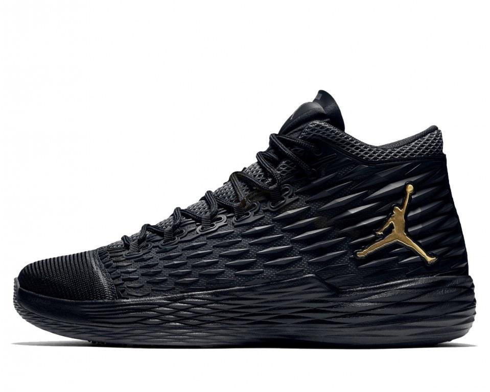 """Мужские баскетбольные кроссовки Nike Air Jordan Melo M13 """"Black/Gold"""", фото 1"""