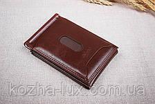 Зажим для денег с кредитницей, кожа, фото 2