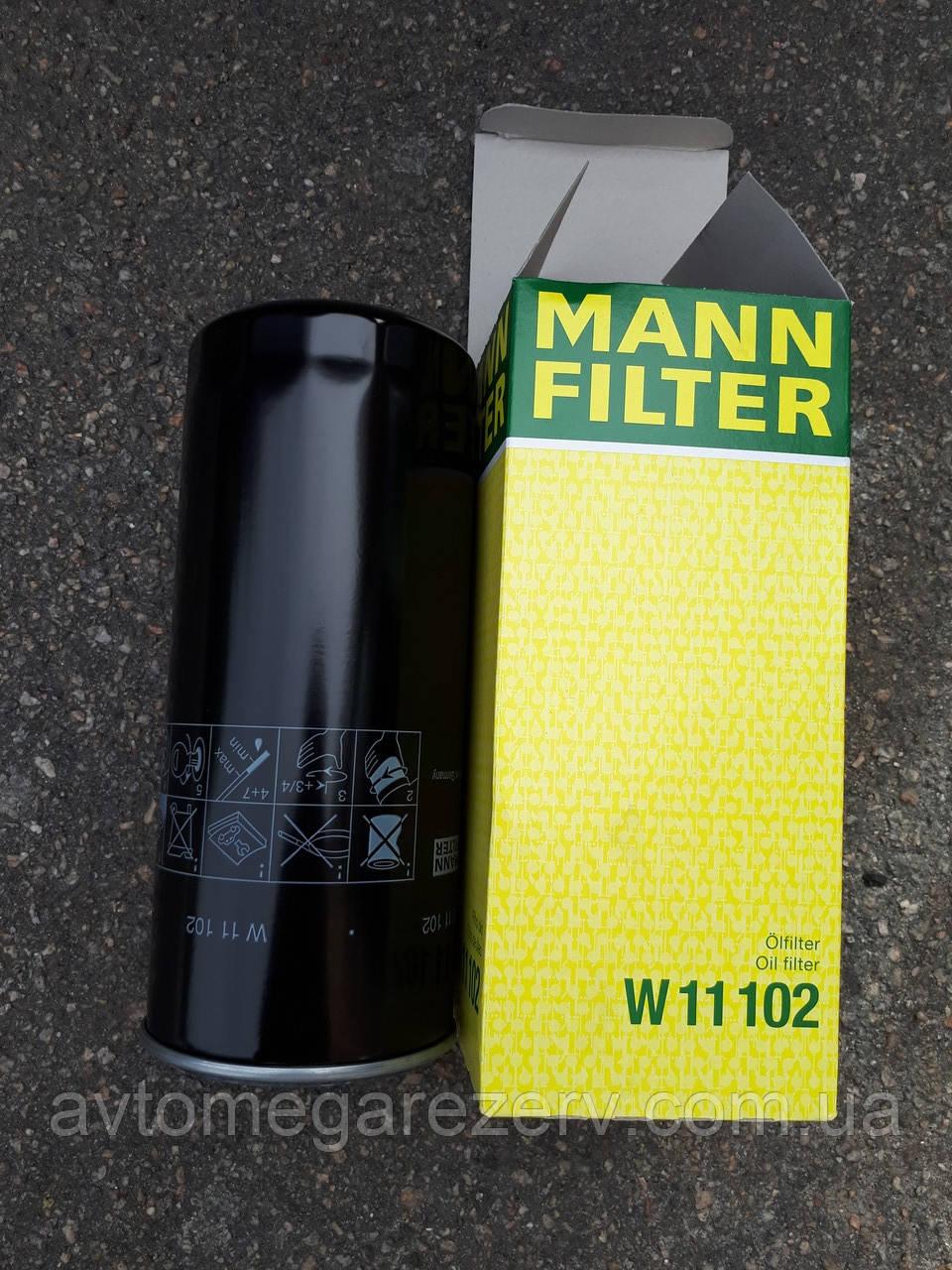 Фільтр масляний W11102 MANN