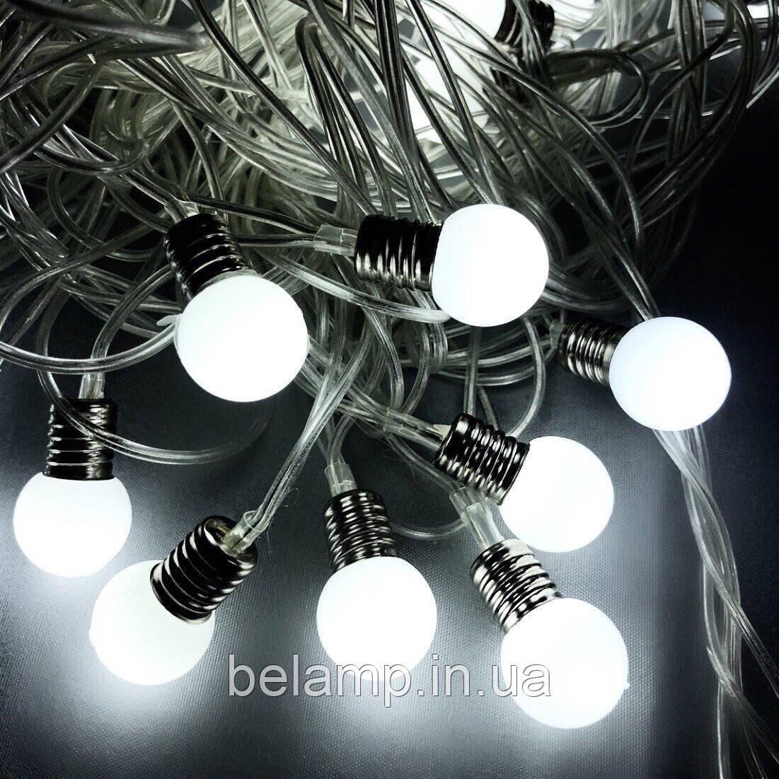 """Новогодняя гирлянда фасадная и внутренняя """"Яркие лампочки"""" от сети"""