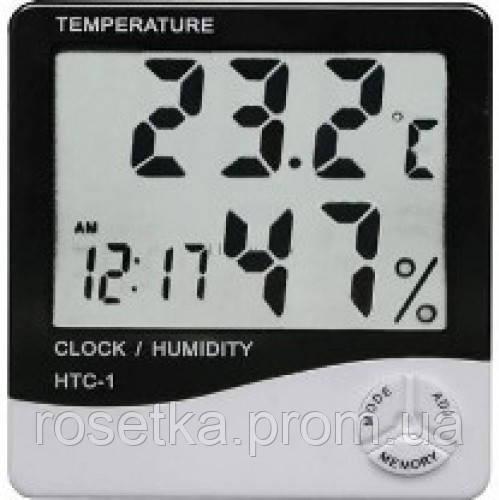 Цифровой термометр часы гигрометр LCD 3 в 1 HTC 1 Подробнее: https://citrys.com.ua/p470823919-tsifrovoj-termometr-chasy.html