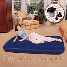 Матрас Flocked Air Bed/ Queen 188 x 99 x 22 см, электронасос в комплекте Bestway (67471)