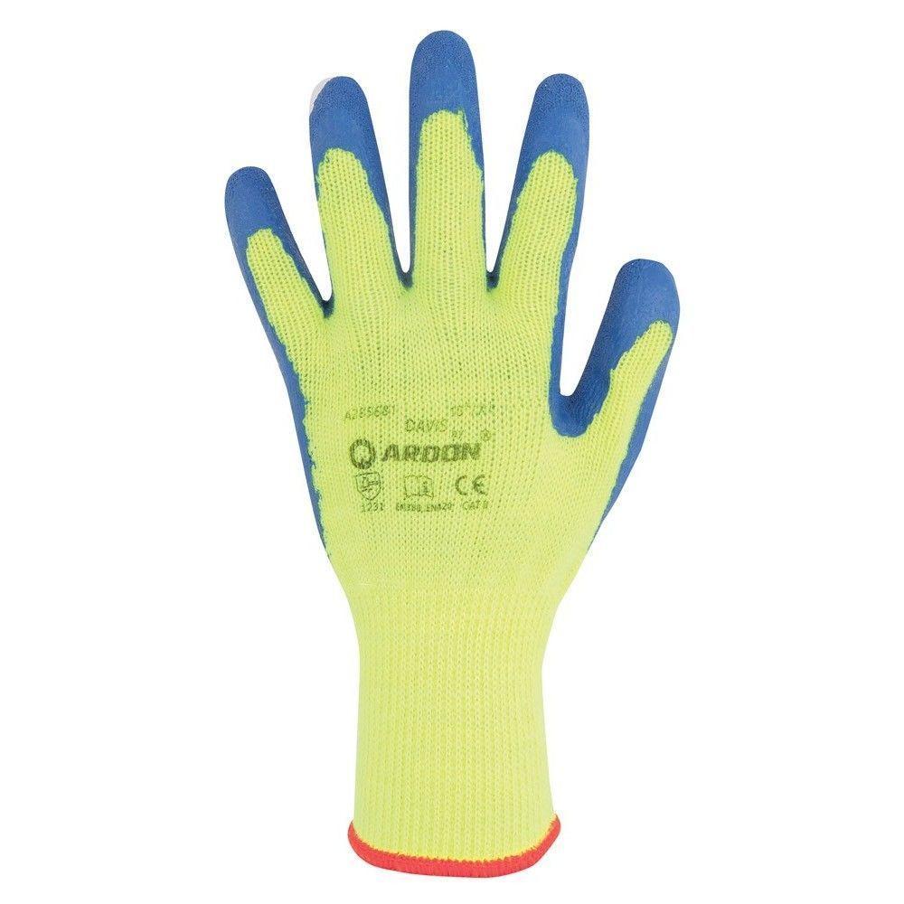 Перчатки акриловые ARDON DAVIS (теплые) с латексным покрытием (Чехия)